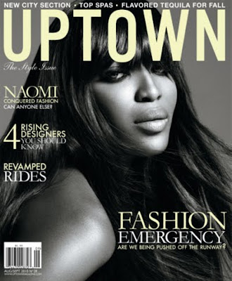 "Naomi Campbell Covers ""Uptown"" Magazine"