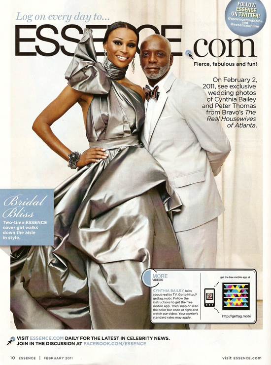 RHOA Cynthia Bailey And Peter Thomas' Wedding Photo!