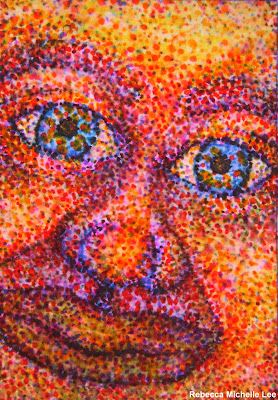 Pink Face ACEO June 2009 R M Lee