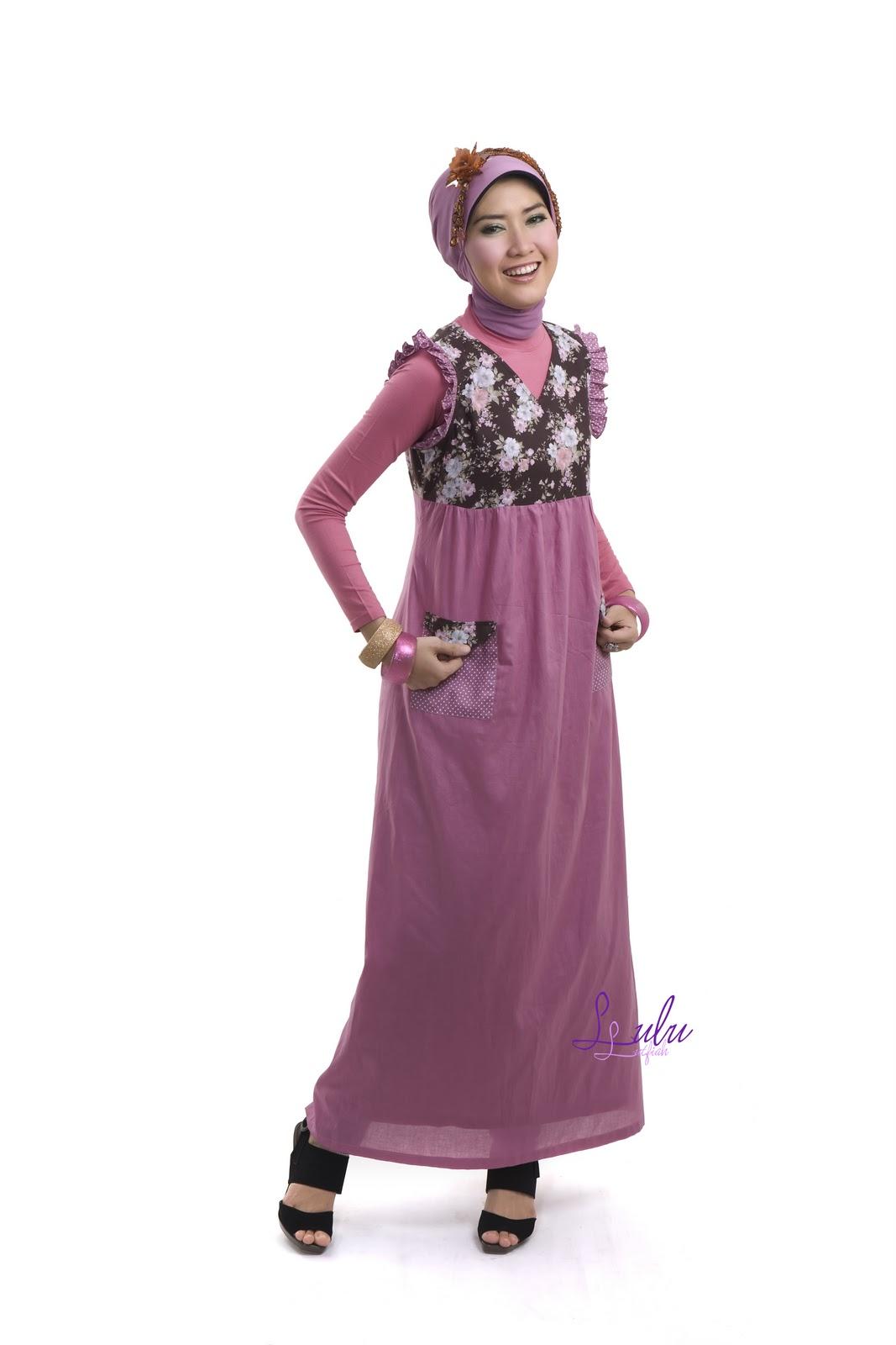 Rins Style : Dusty Pink-Malabis Moslem - Hijab Trade Fashion