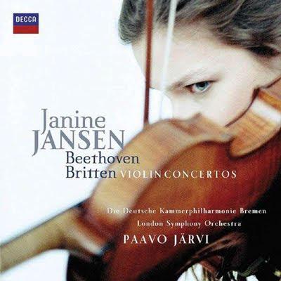 Conciertos para violín de Beethoven y Britten por Janine JAnsen y Paavo Järvi en Decca