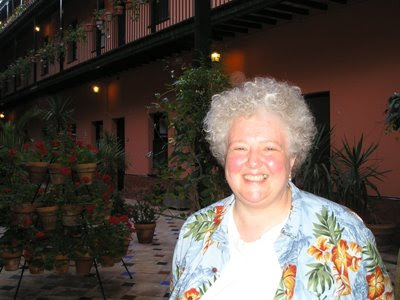 Monica Huggett en un hotel de Sevilla (19 de junio de 2008)