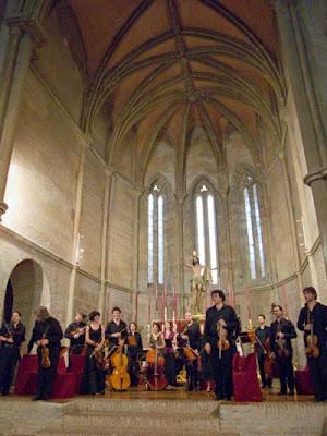 La OBS con Sigiswald Kuijken en la iglesia de Santa Marina de Sevilla, 15-06-08 (© Carlos Tarín)