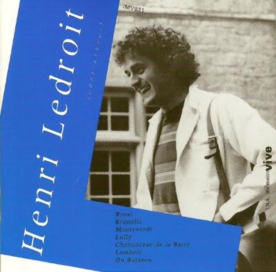 Disco dedicado a Henri Ledroit por INA, mémoire vive