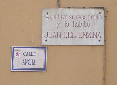 Juan del Encina en la Calle Ancha de León