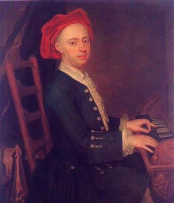Posible retrato de Georg Friedrich Haendel, lienzo anónimo de hacia 1720