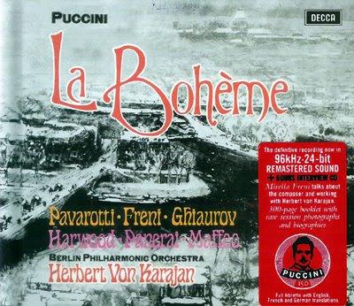 La Bohème de Pavarotti, Freni y Karajan