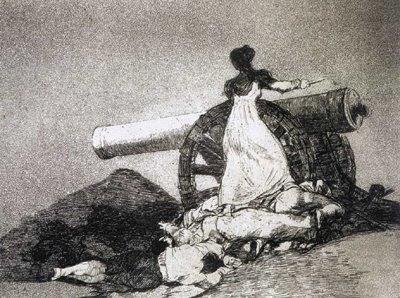 ¡Qué valor! (serie Desastres de la guerra) de Goya
