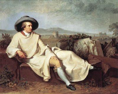 Goethe en la campiña romana (1787) por J. H. W. Tischbein