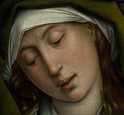 El descendimiento de Rogier van der Weyden (detalle)