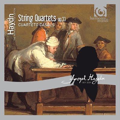 Cuartetos Op.33 de Haydn por el Cuarteto Casals en HM