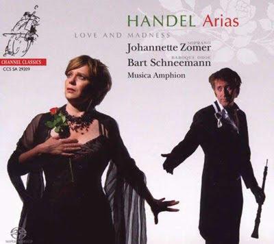 Arias de Haendel por Johanette Zomer en Channel Classics