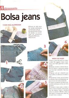tutorial de bolsa feita com jeans