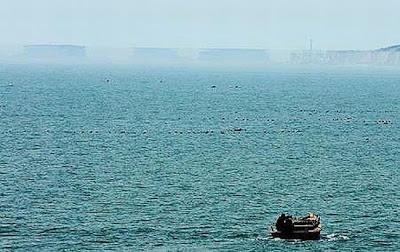 Miragem no mar da China