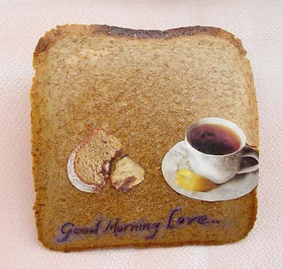 arte em pão torrado