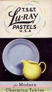 LuRay Dinnerware Resources  sc 1 st  C. Dianne Zweig & C. Dianne Zweig - Kitsch \u0027n Stuff: Hooray For LuRay Pastel ...