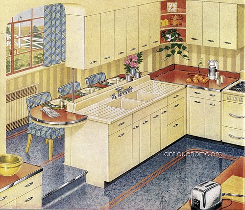 Kitchen Cabinets Vintage Style: Kitsch 'n Stuff: Decorating Your Vintage