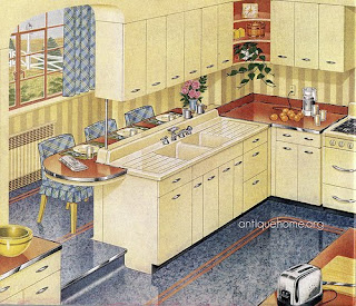 yellow vintage kitchen i m loving this 1940 s kitchen and wish it was