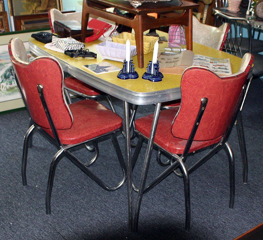 Chrome Dinette Chairs c. dianne zweig - kitsch 'n stuff: 1950s formica and chrome tables