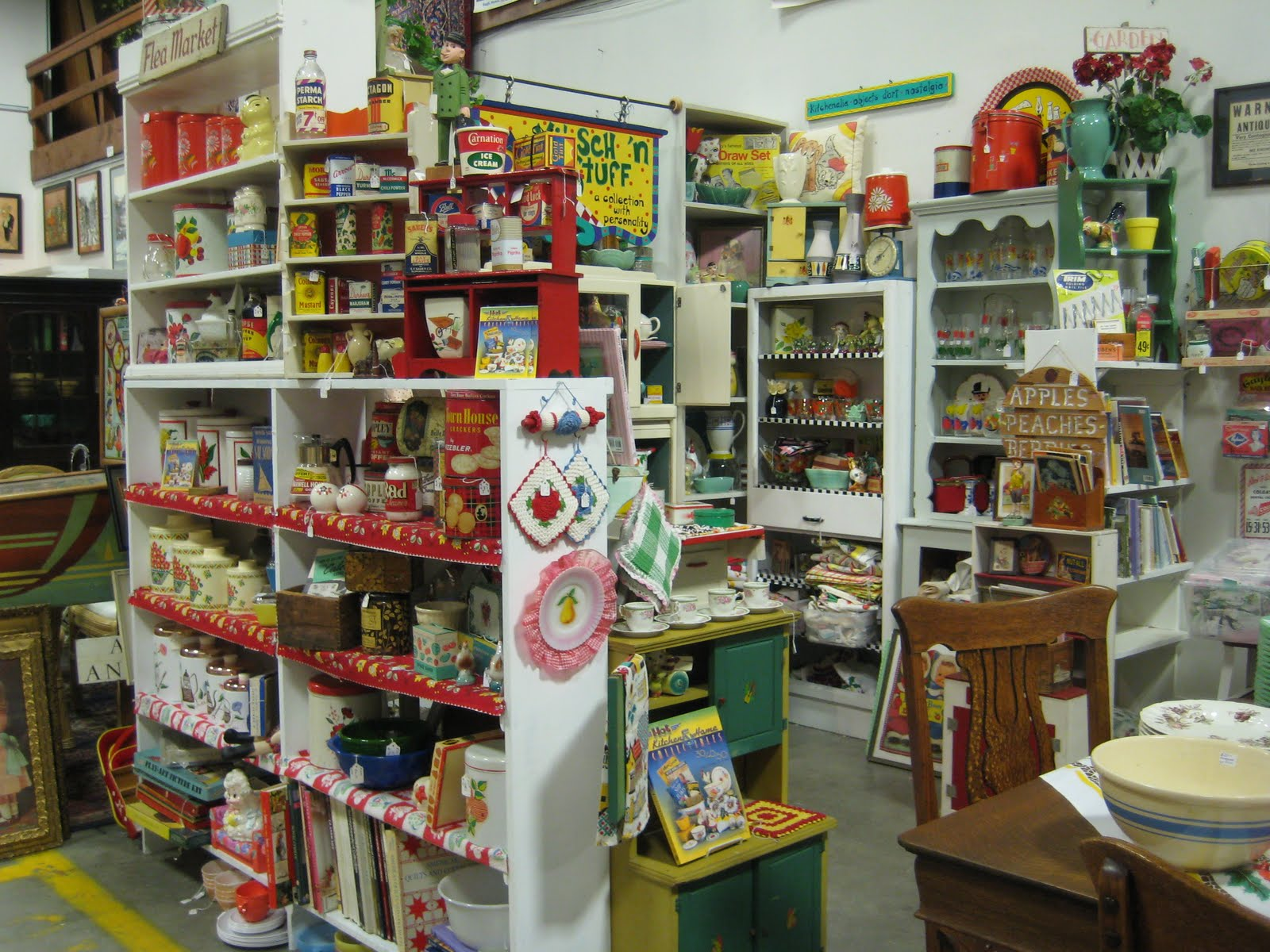 my shop kitsch n stuff at the collinsville antiques company of new hartford is loaded with retro pantry items from the s : kitchen items store