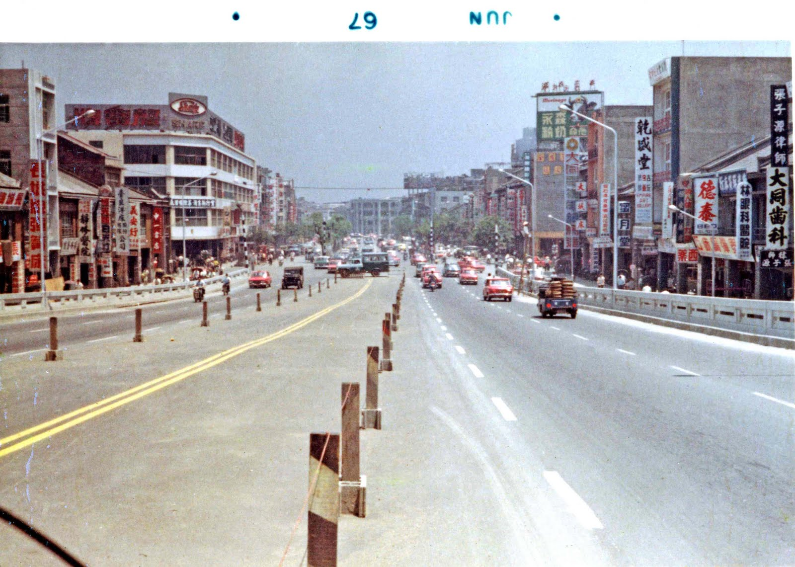 [D041+1960s+Taiwan,+Misc.,+Streets,+Changshan+N+Rd+overpass+near+downtown-1]