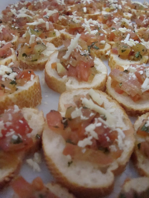 Brusquetinhas de Tomate Fresco
