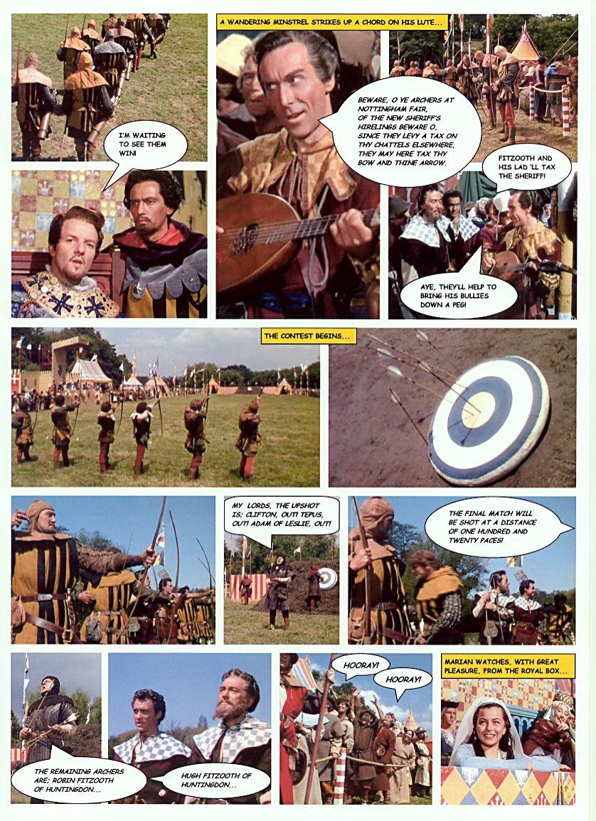 Walt Disney S Story Of Robin Hood Picture Strip 5 Disney S Story