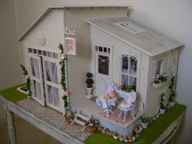 lindas miniature musings shabby chic tea salon. Black Bedroom Furniture Sets. Home Design Ideas