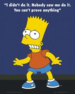 Uma opini o por dia n o fui eu - Bart simpson nu ...