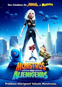 Download Monstros vs Alieníginas A animação conta a história de um confuso grupo de monstros terrestres com a missão de salvar o mundo depois de uma invasão alienígena.