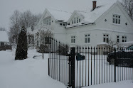 Vinter huset vrt