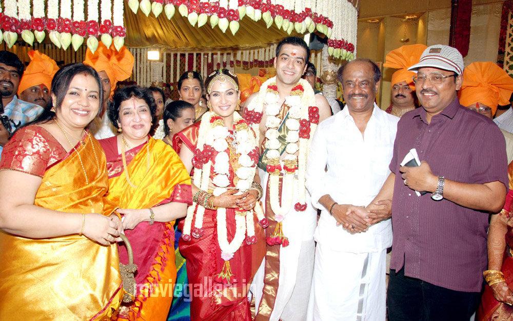 Tamil Stars @ Soundarya Rajinikanth Wedding Reception ...