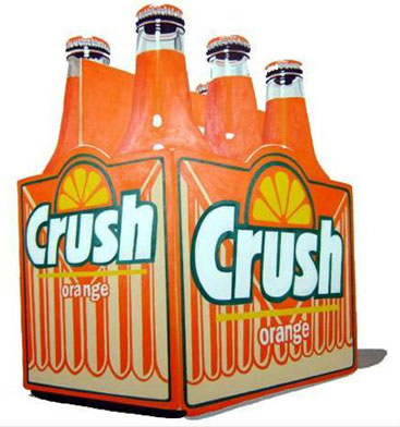 6 pk orange crush in bottles