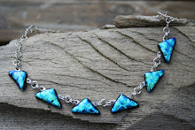 Turquoise Dichroic Necklace