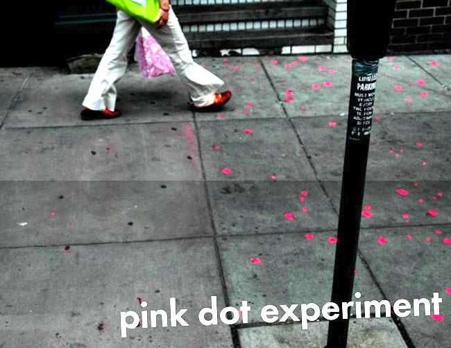 pink dot experiment