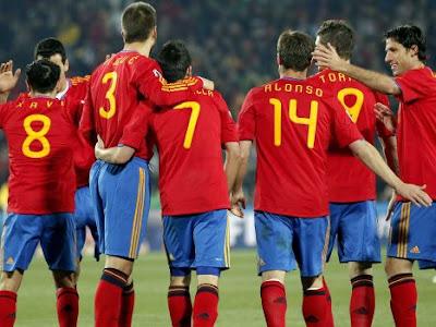Partido con la Selección Española