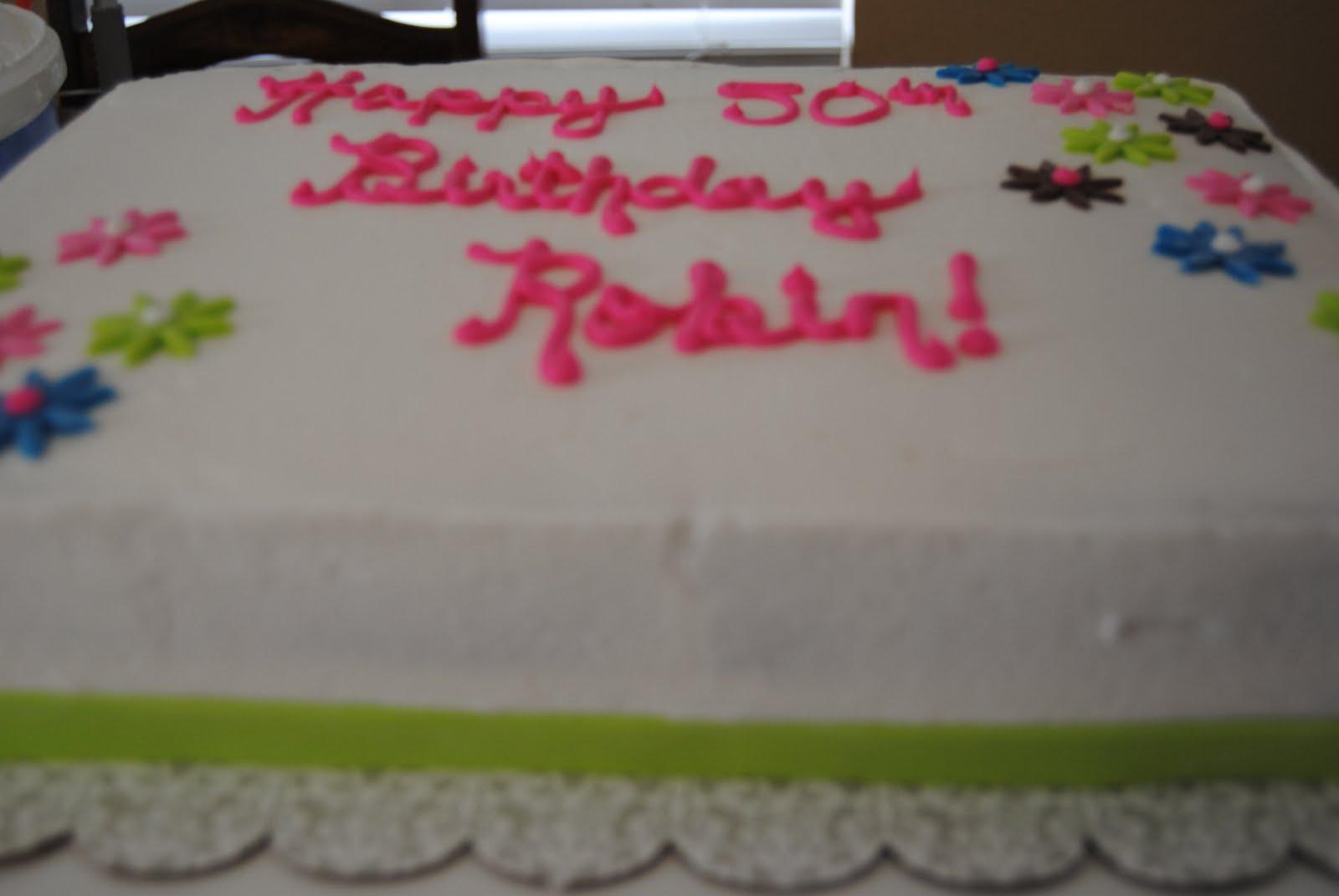Breezies Cakes Happy Birthday Robin