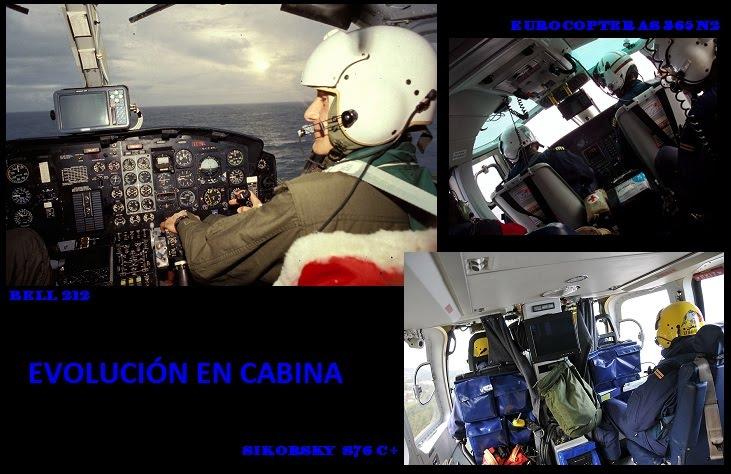 Ayer y Hoy de la Cabina de nuestros Helicópteros