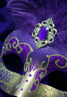 Purple Carnival Mask