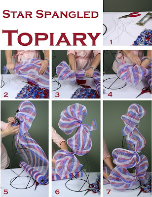 Tutorial pictures 1: Red, White and Blue Topiary