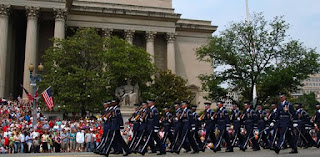 Air Force Honor Guard at Washington,D.C. Memorial Day Parade