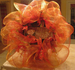Deco mesh Fall Wreath