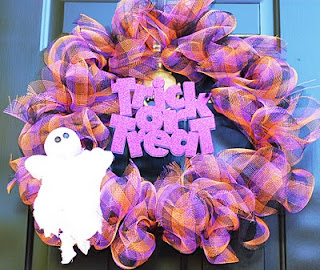 Deco Poly Mesh Halloween Wreath