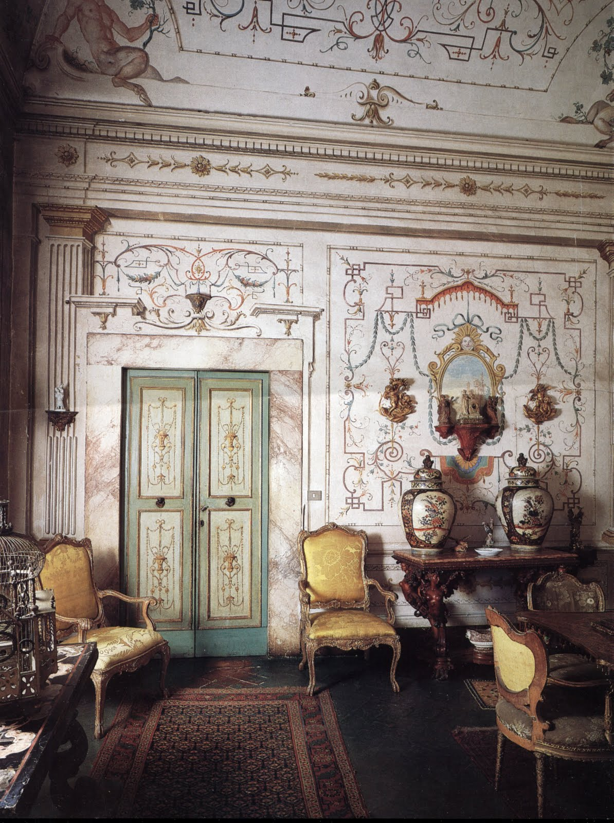 Antique Furniture Interior Design ~ Surface fragments antiques in italian interiors