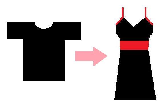 Como hacer un vestido con una remera (reciclaje)