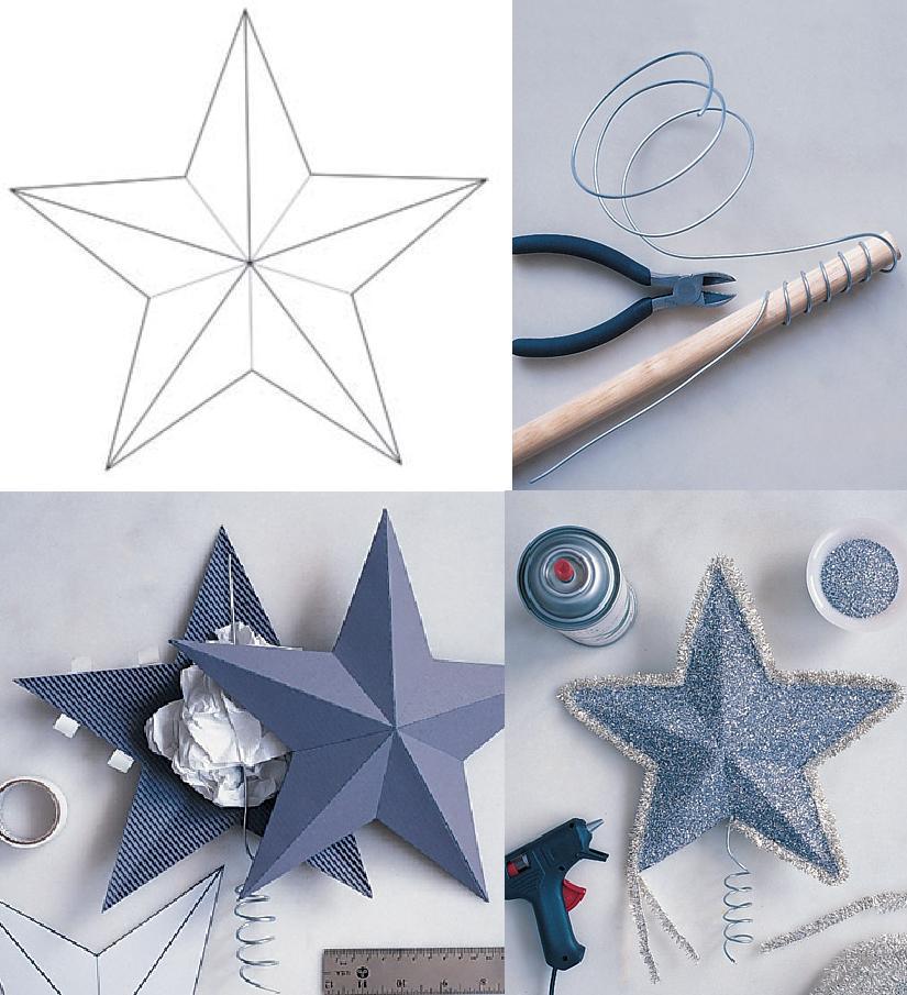Videos de como hacer arbolitos 3d - Estrella para arbol de navidad ...