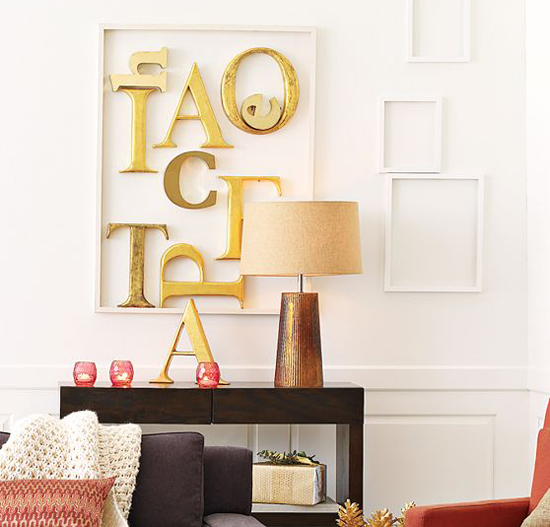 Letras decorativas para pared en relieve o corporeas (reciclado/gratis)