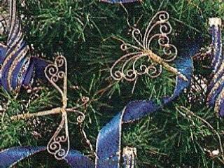 Mariposas para el arbol de Navidad: adorno navideño