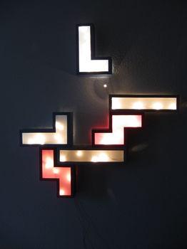 Lampara Tetris (en madera o carton)