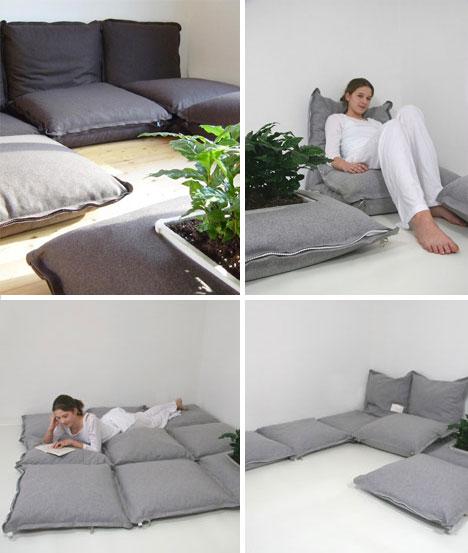 Sofa cama almohadon o puff, como hacerlo facilmente y casero